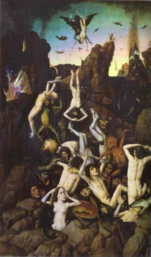 Oil painting:Hell. 1470