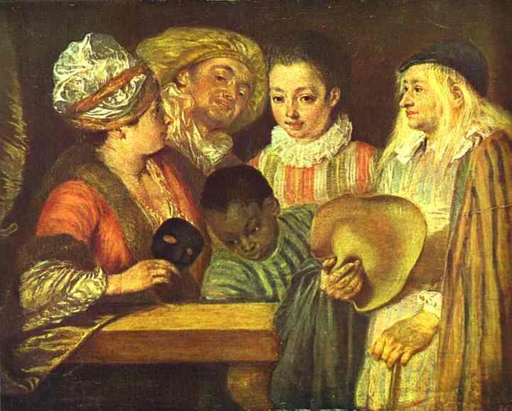 Oil painting:Les Coquettes. c. 1712