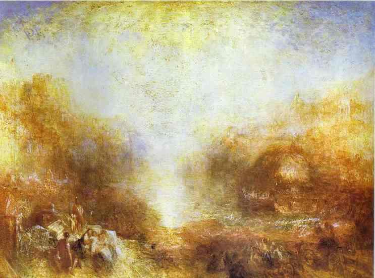 Oil painting:Mercury Sent to Admonish Aeneas. 1850