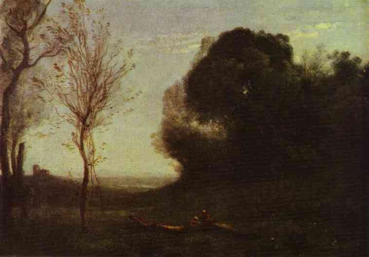 Oil painting:Morning. Early 1860