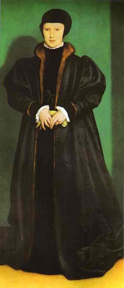 Oil painting:Portrait of Christina of Denmark. 1538