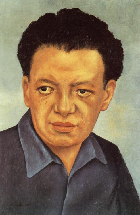 Oil painting:Portrait of Diego Rivera. 1937