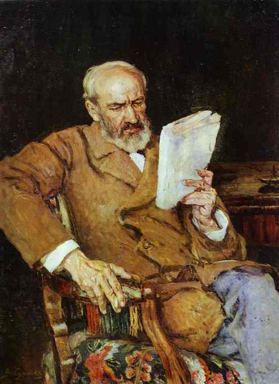 Oil painting:Portrait of Dr. A. D. Yezersky. c. 1910