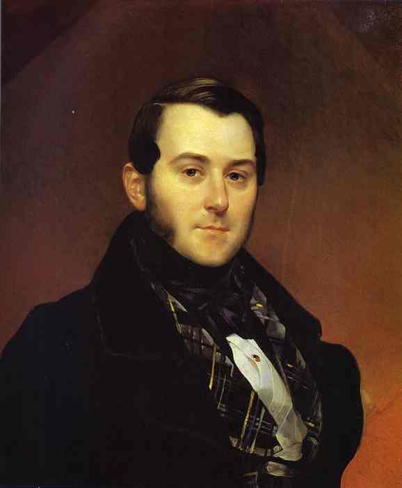 Oil painting:Portrait of I. A. Beck. 1839