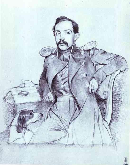 Oil painting:Portrait of Lieutenant Lvov. 1846