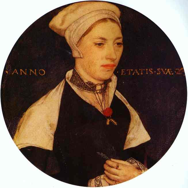 Oil painting:Portrait of Mrs Pemberton. c. 1535
