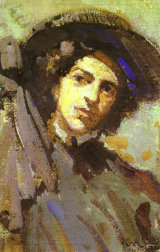 Oil painting: Portrait of Nadezhda Komarovskaya. 1908