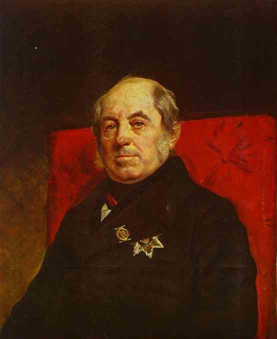Oil painting:Portrait of S. G. Likhonin. 1841