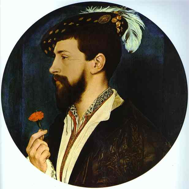Oil painting:Portrait of Simon George of Quocote. c. 1535