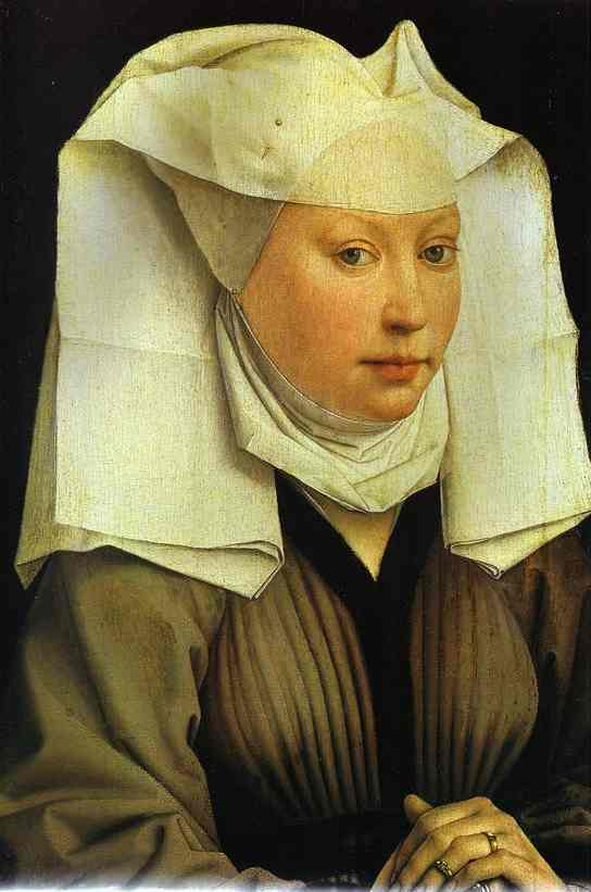 Oil painting:Portrait of Young Woman. c.1445