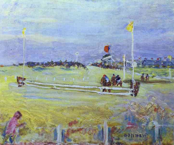 Oil painting:Race at Bologne, 1910