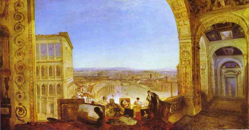Oil painting:Rome, from the Vatican, Raffaelle, Accompanied by La Fornarina, Preparing His Pictures