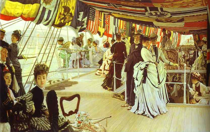 Oil painting:The Ball on Shipboard. 1874