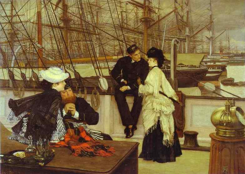 Oil painting:The Captain and the Mate. 1873