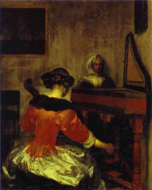 Oil painting:The Concert. c. 1675