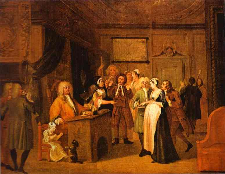 Oil painting:The Denunciation. c.1729