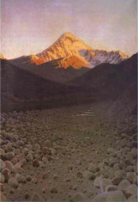 Oil painting:The Mount Kazbek. 1897