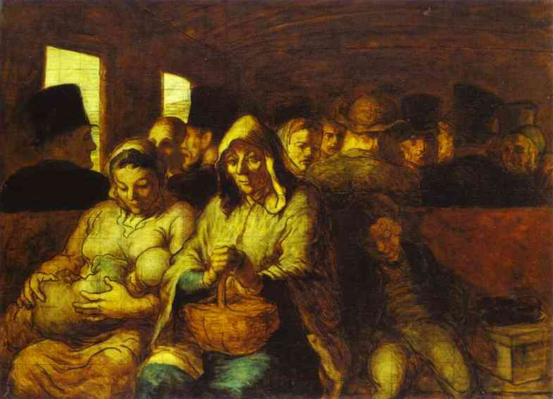Oil painting:The Third-Class Carriage. 1860