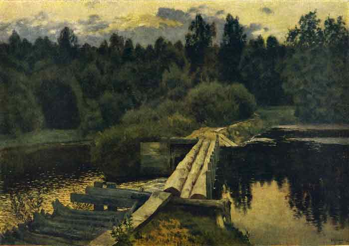 Oil painting for sale:Across the River, 1892