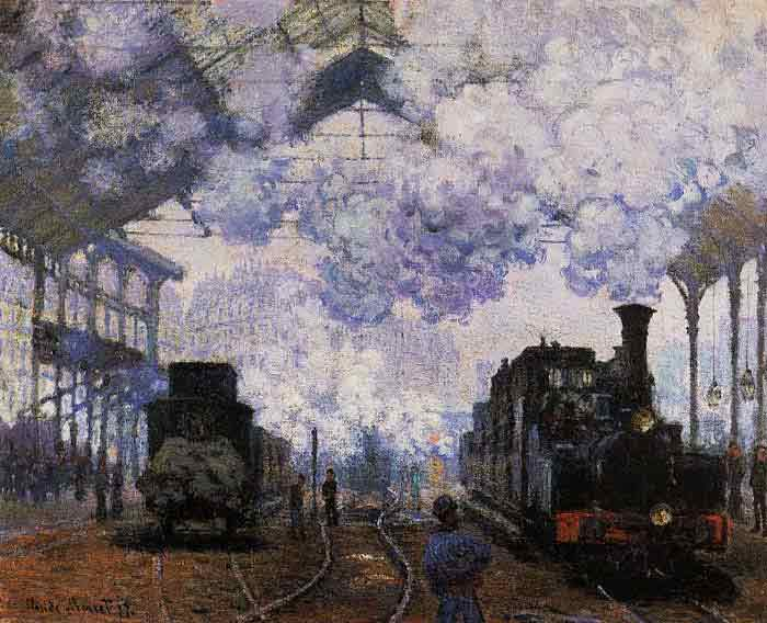 Oil painting for sale:Arrival at Saint-Lazare Station , 1876