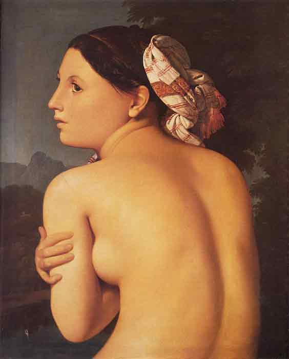 Oil painting for sale:Half-figure of a Bather, 1807
