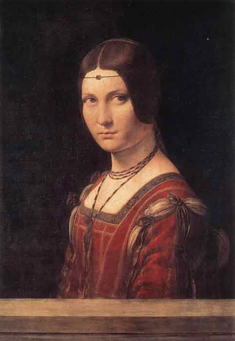 Oil painting for sale:Lady from the Court of Milan, La Belle Ferronniere, c.1490