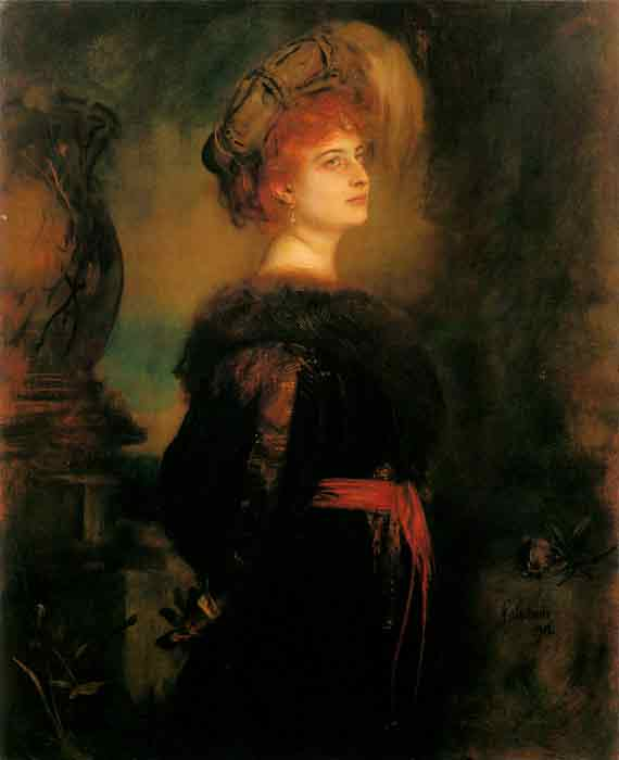 Oil painting for sale:Lily Merk, 1902
