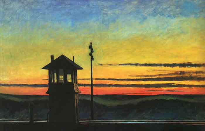Oil painting for sale:Railroad Sunset, 1929