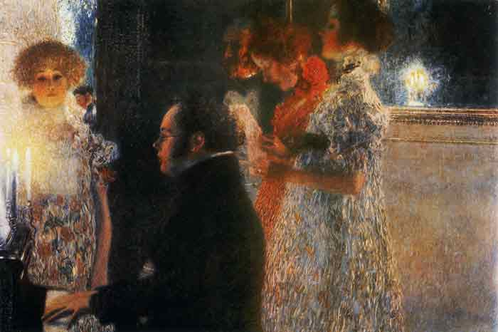 Oil painting for sale:Schubert at the Piano, 1899