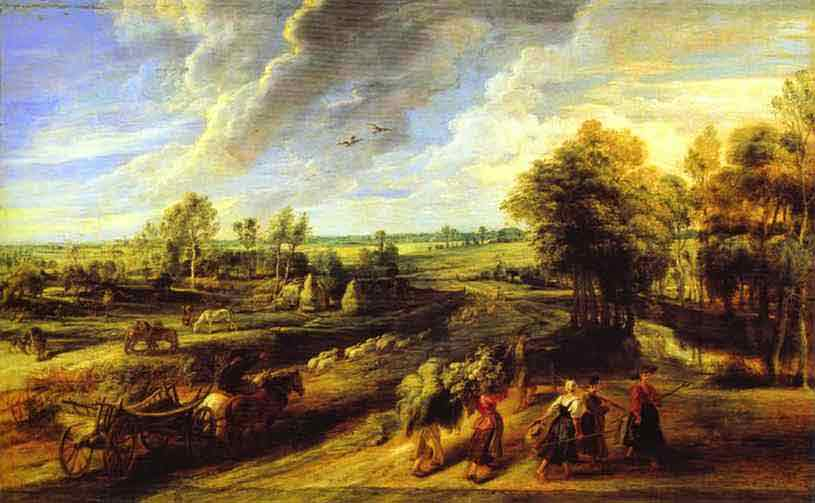 Return of the Peasants from the Fields. 1632-1634