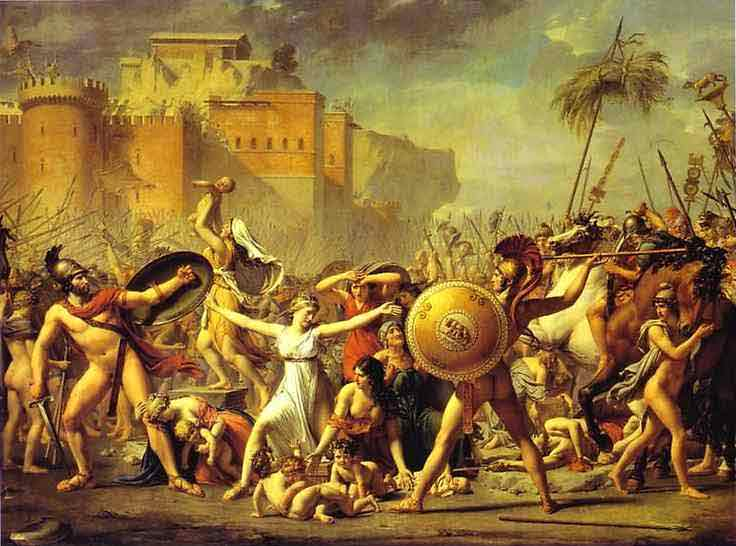 The Intervention of the Sabine Women. 1799