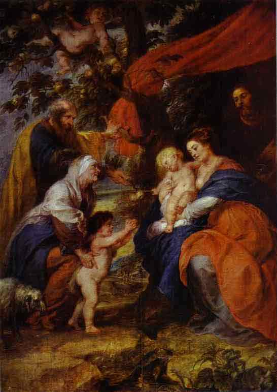 The St. Ildefonso Altar (outer wings). The Holy Family under the Apple-Tree. 1630-1632