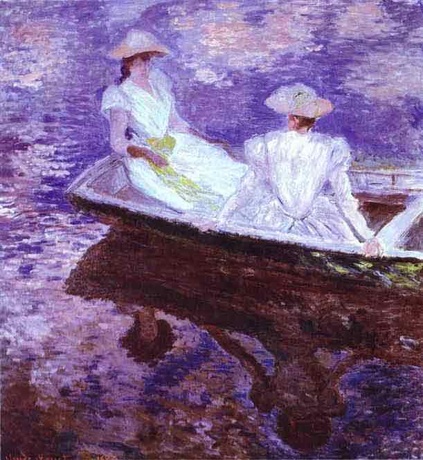 Young Girls in a Boat. 1887.