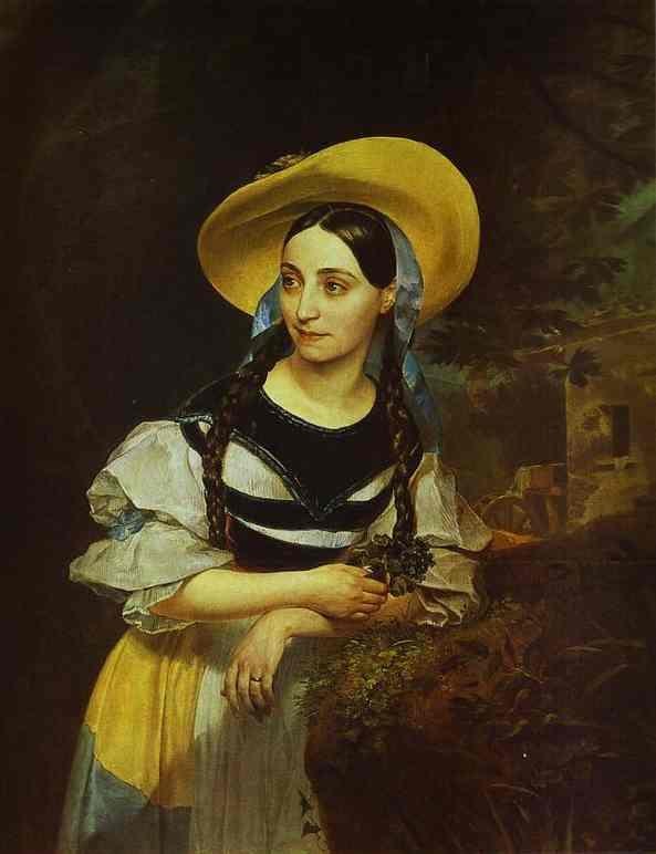 Oil painting:Portrait of the Italian Singer Fanny Persiani-Tacinardi. 1834