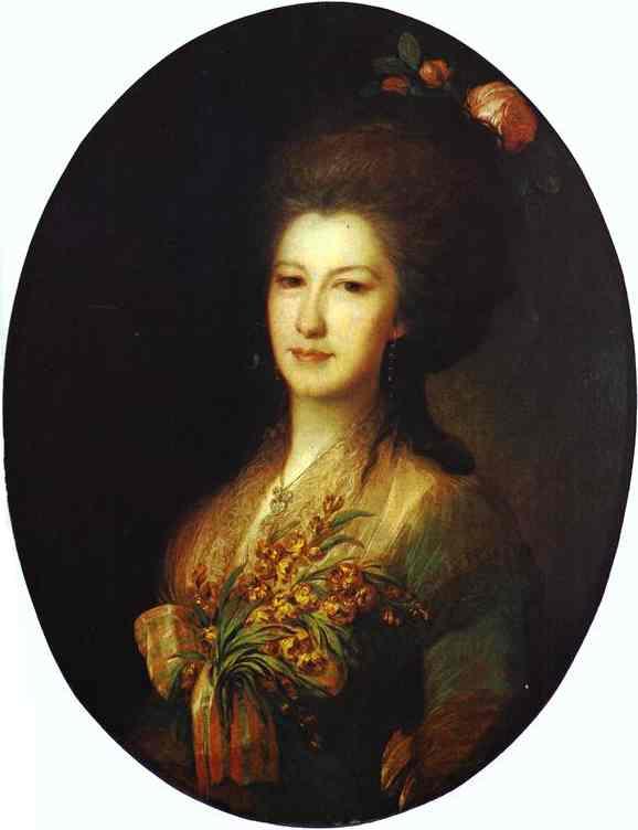 Oil painting:Portrait of Countess Elizaveta Santi. 1785