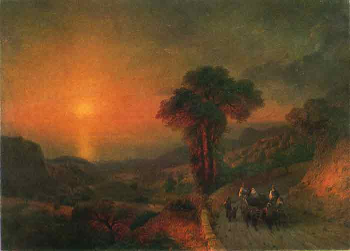 Oil painting for sale:Sunset, 1864
