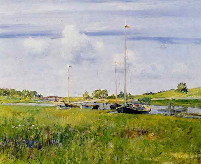 Oil painting for sale:At the Boat Landing, 1902