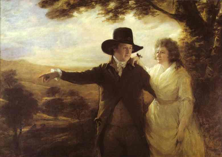 Oil painting:Portrait of Sir John and Lady Clerk of Penicuik. 1792