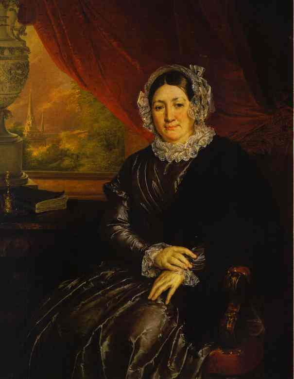 Oil painting:Portrait of E. P. Protasyeva. 1840s