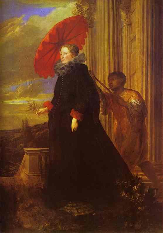 Oil painting:Portrait of Marchesa Elena Grimaldi, wife of Marchese Nicola Cattaneo. 1623