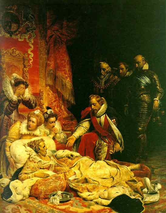Oil painting for sale:The Death of Elizabeth, 1828
