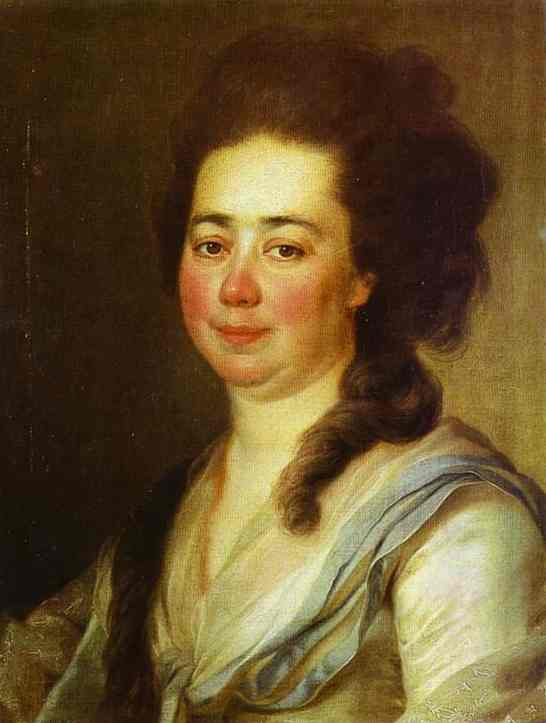 Oil painting:Portrait of E. A. Bakunina. 1782