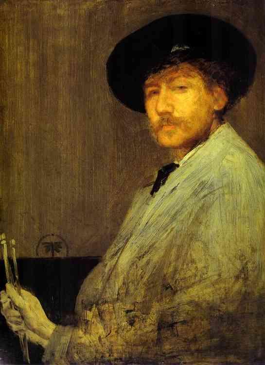 Oil painting:Arrangement in Gray: Portrait of the Painter. 1872