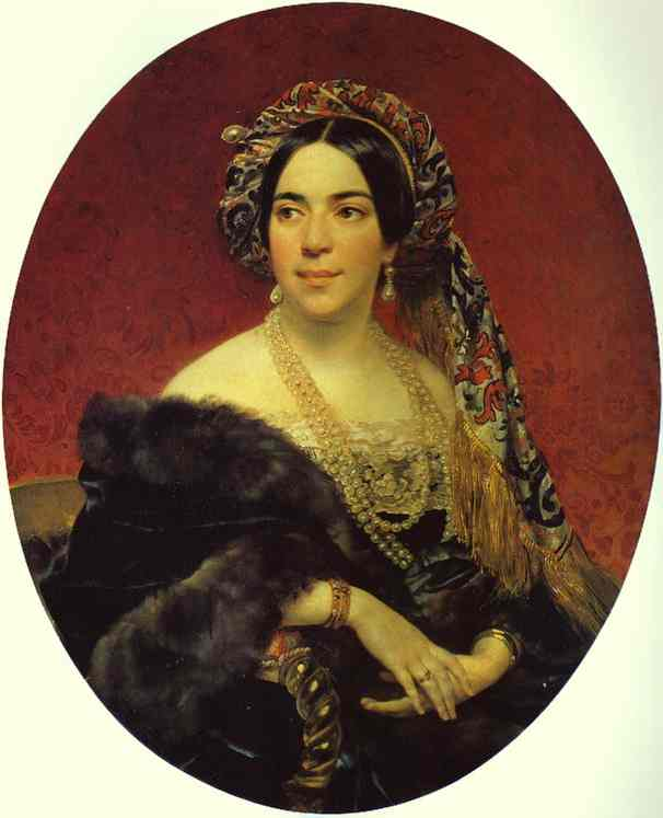 Oil painting:Portrait of Princess Z. A. Volkonskaya. Not later than 1842