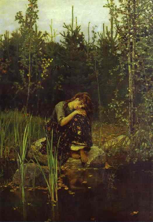 Oil painting:Alionushka. 1881