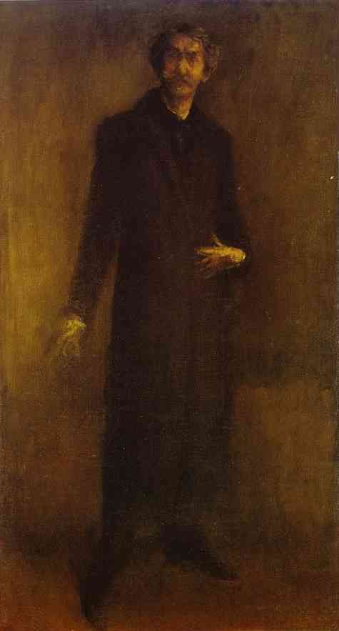 Oil painting:Brown and Gold (Self-Portrait). 1895