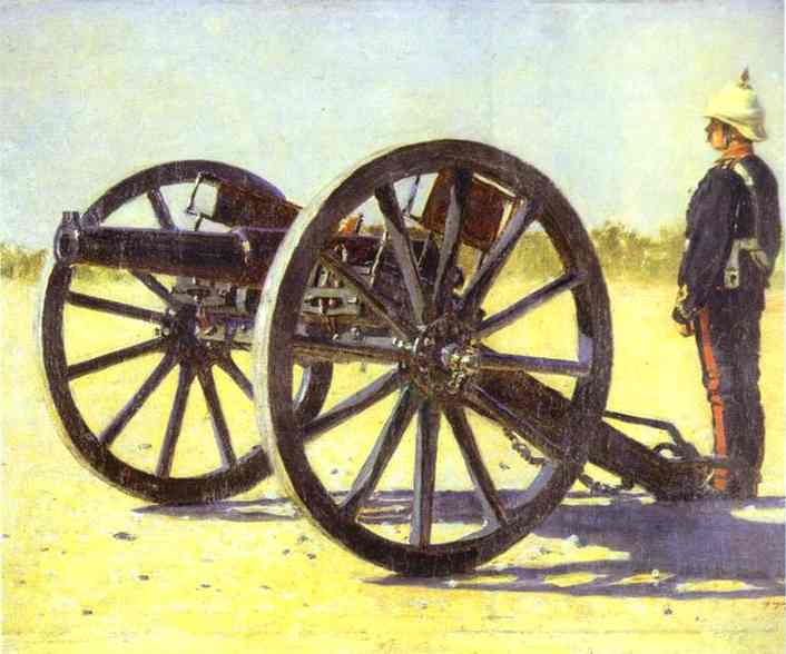 Oil painting:Cannon. 1882