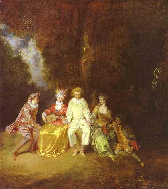 Oil painting:Happy Pierrot.