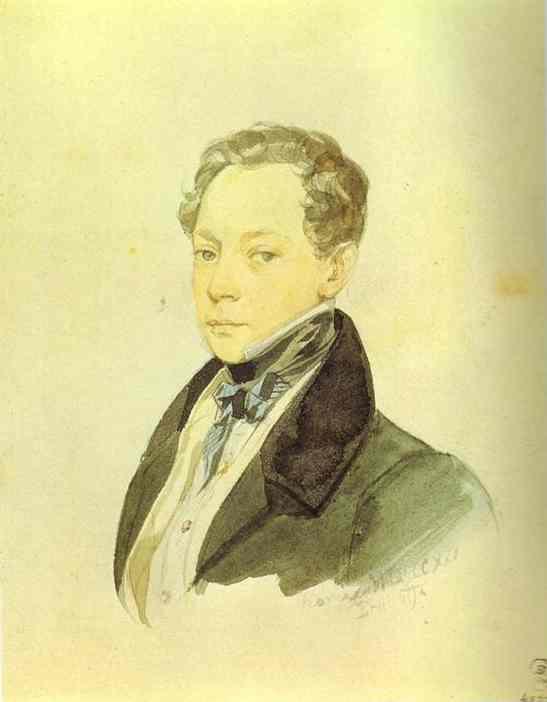 Oil painting:Portrait of P. V. Basin. 1830