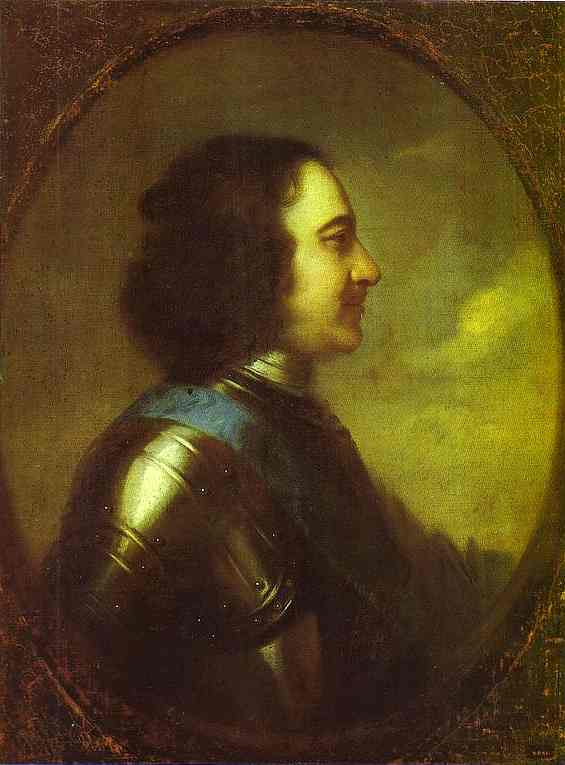 Oil painting:Portrait of Peter the Great. 1710